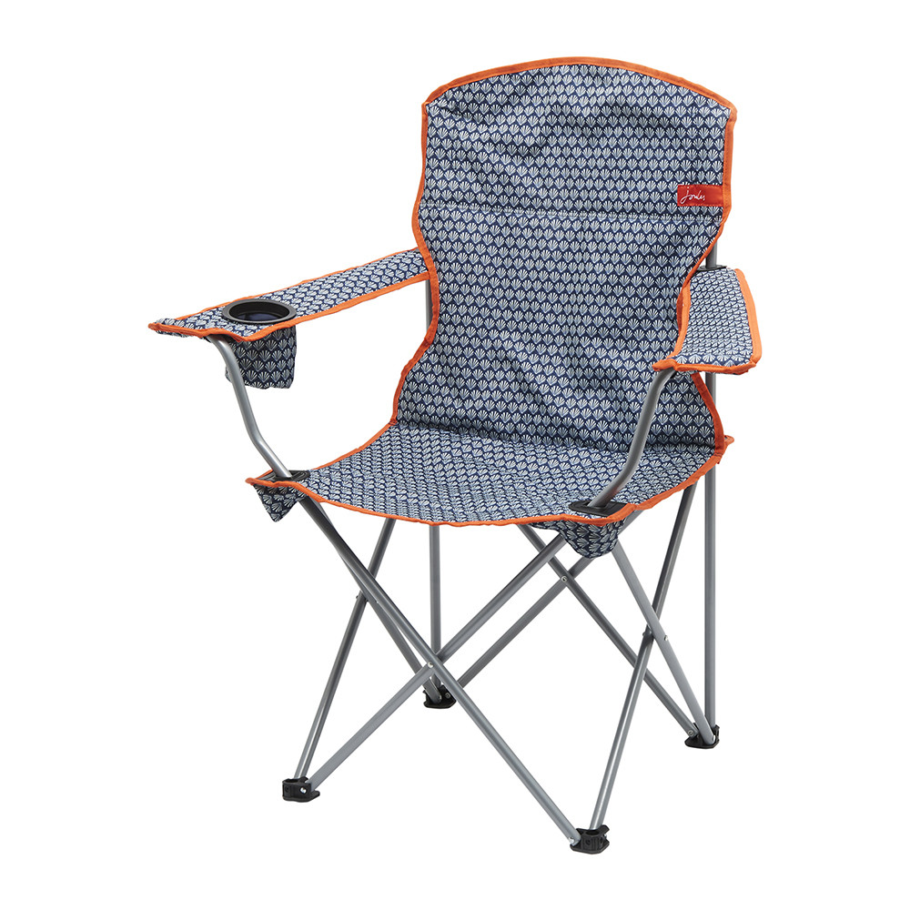 Buy Joules Folding Picnic Chair French Navy Shells