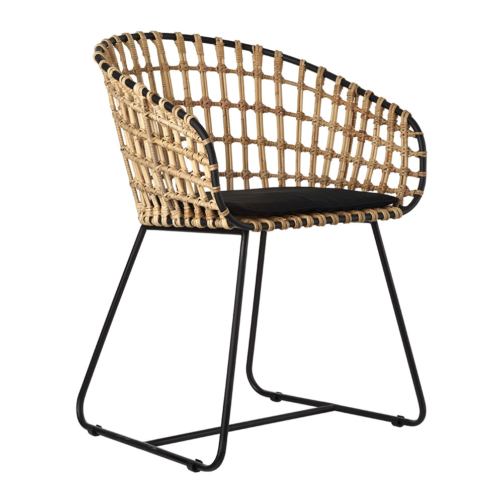 Buy pols potten tokyo chair rattan amara for Chaise en rotin et metal