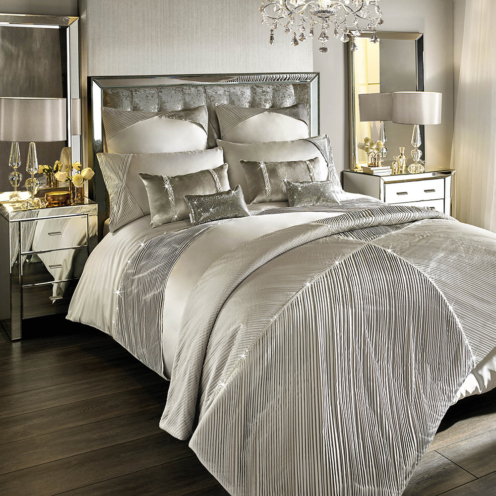 Buy Kylie Minogue At Home Omara Duvet Cover Champagne