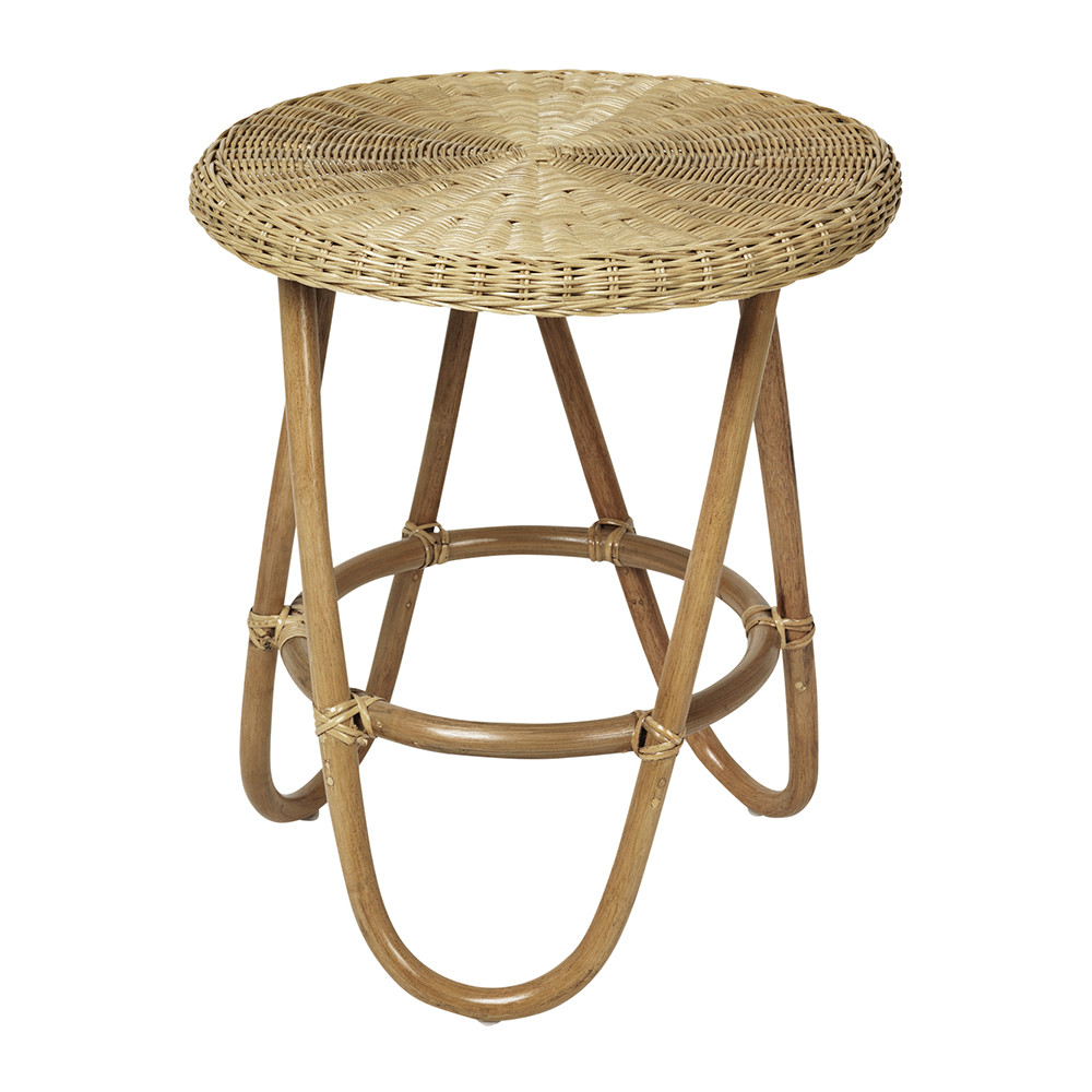 Buy Broste Copenhagen Frida Rattan Side Table | Amara