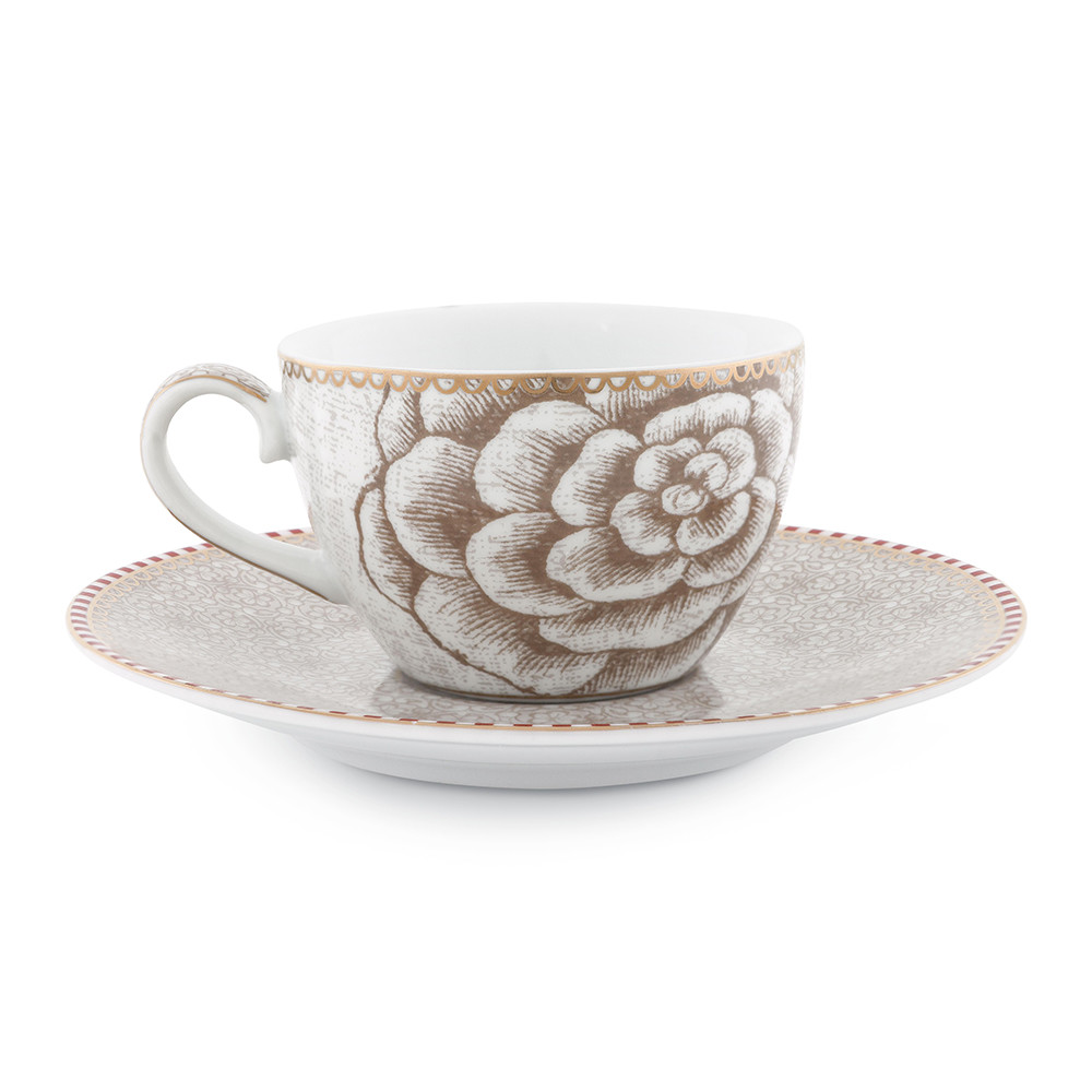 Affordable Pip Studio Spring To Life Espresso Cup Saucer Cream With Geschirr