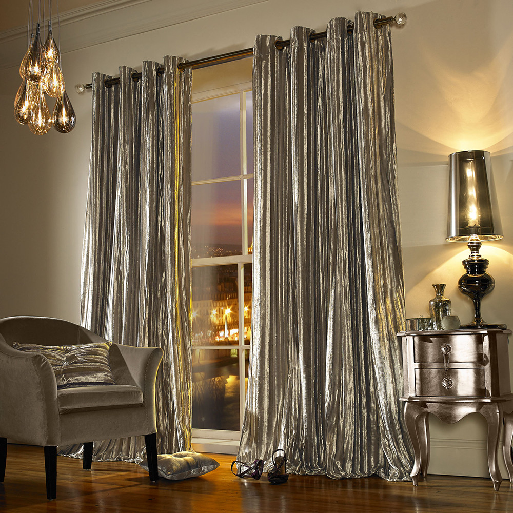 Kylie Minogue at Home - Iliana Lined Eyelet Curtains - Praline - 168x137cm