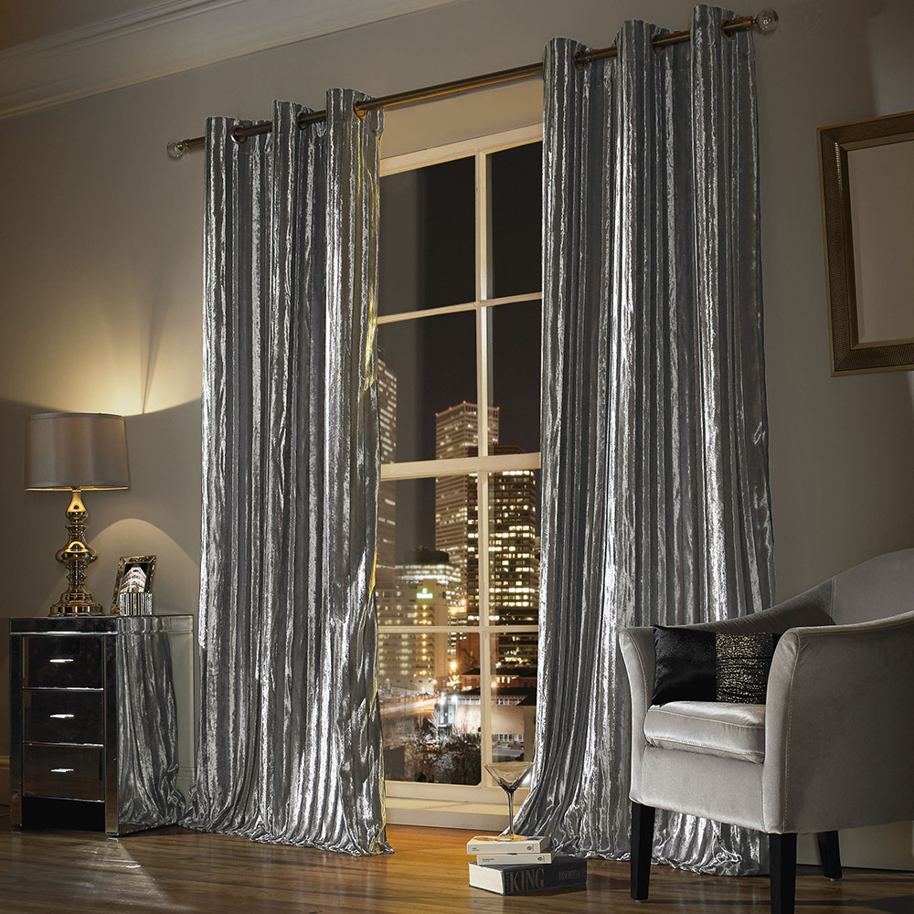 Buy Kylie Minogue At Home Iliana Lined Eyelet Curtains