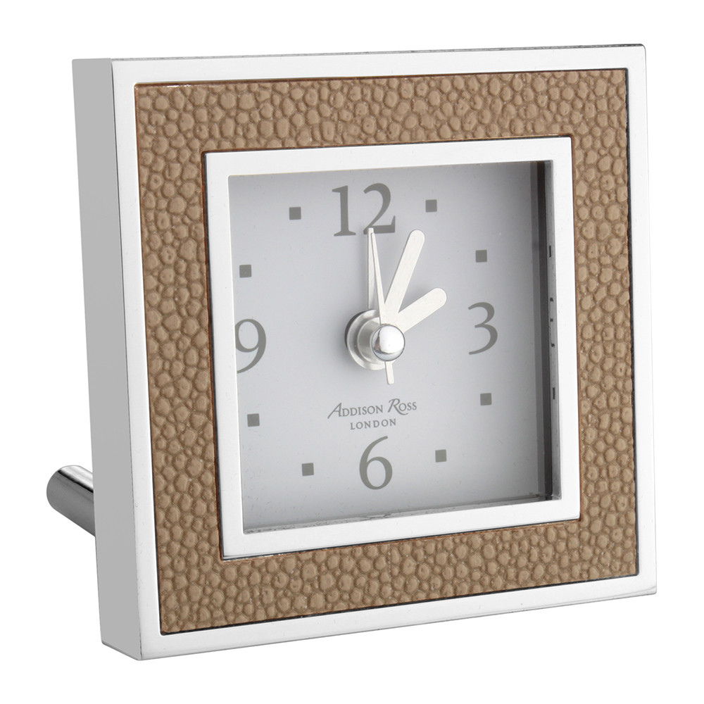 Addison Ross - Square Alarm Clock - Shagreen Sand