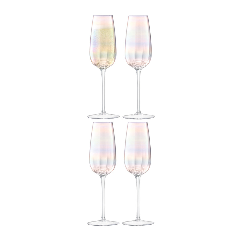 LSA International - Pearl Champagne Flute - Set of 4