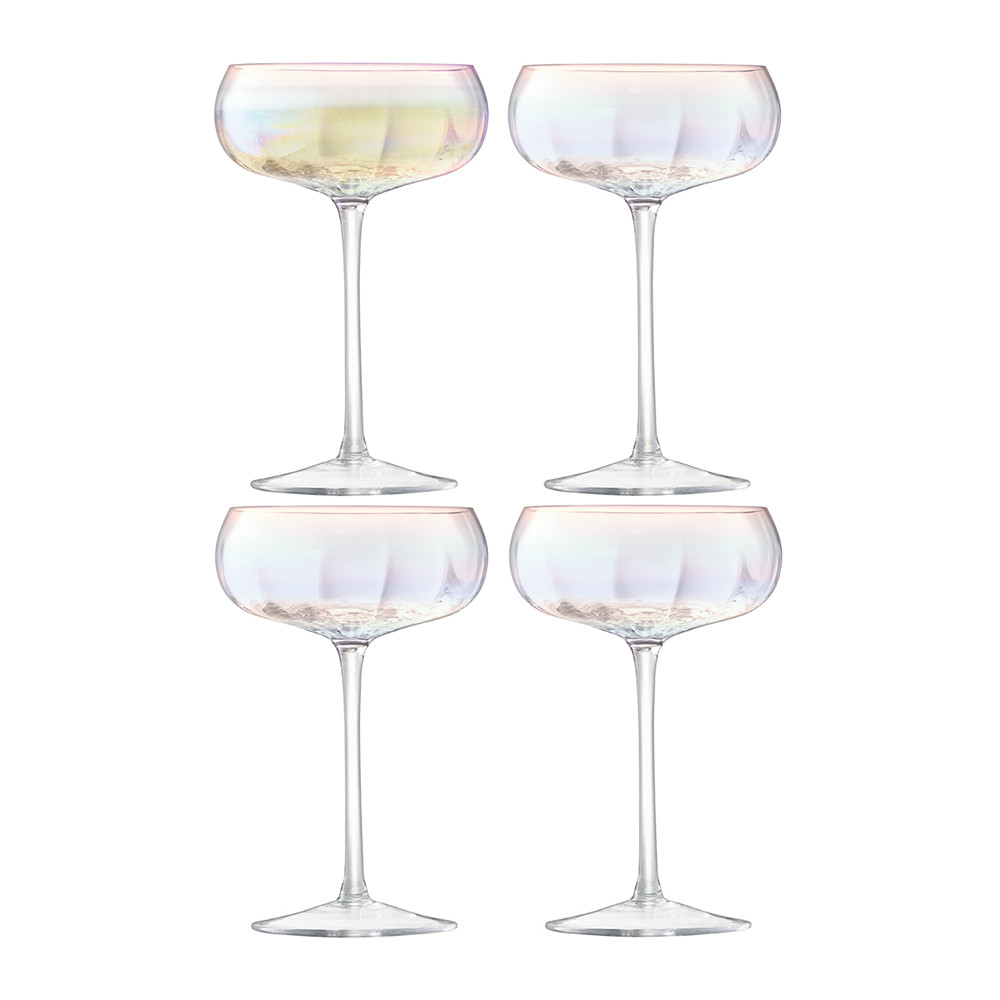 LSA International - Pearl Champagne Saucer - Set of 4
