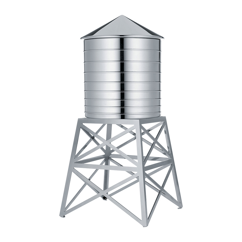 Stainless Steel Towers : Alessi water tower container stainless steel £