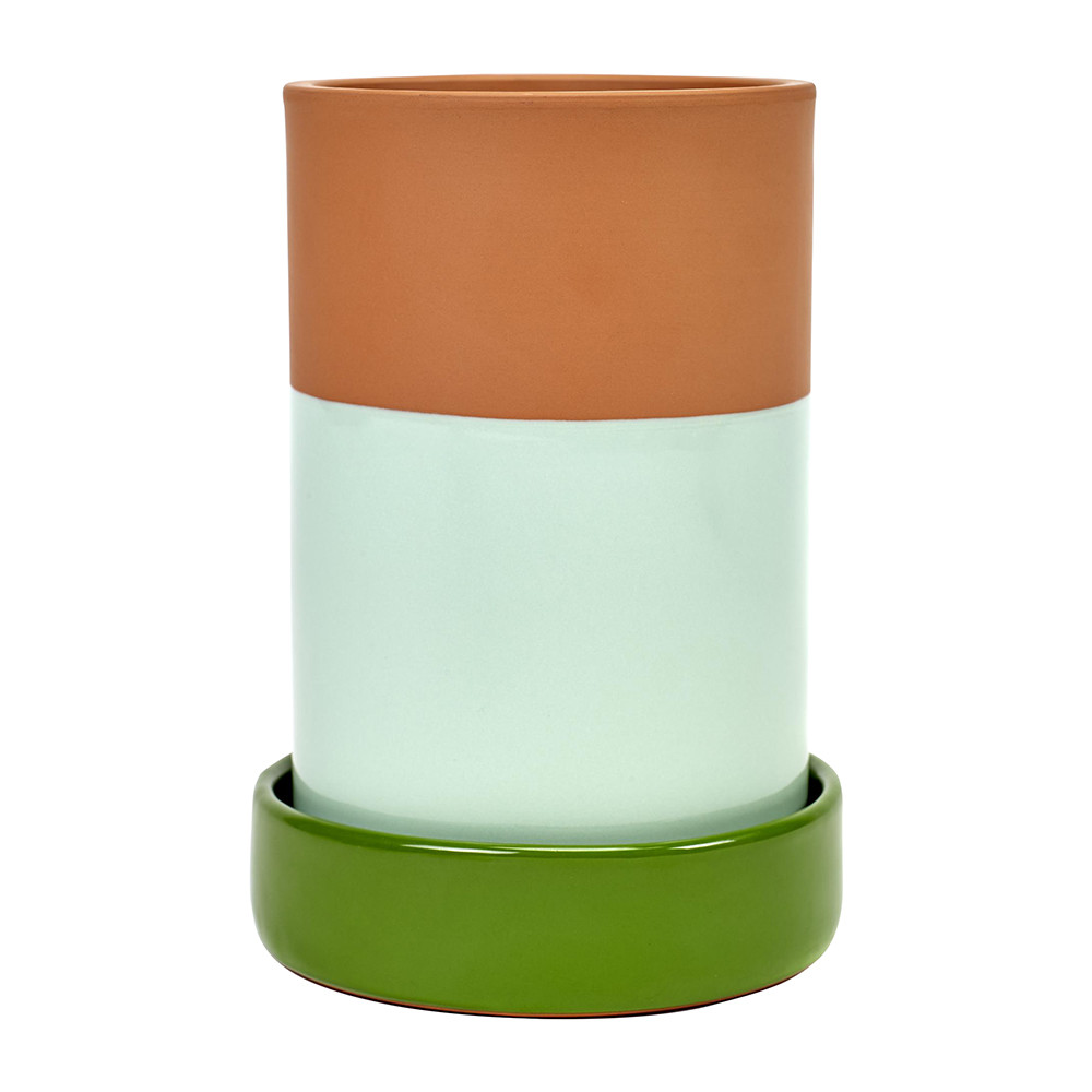 Jansen+co - Wine Cooler with Base - Green Mint