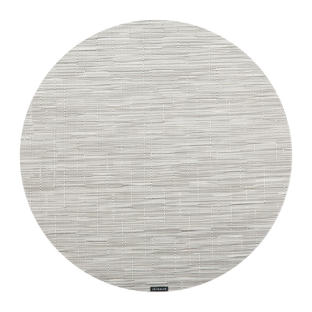 Chilewich - Bamboo Round Placemat - Chalk
