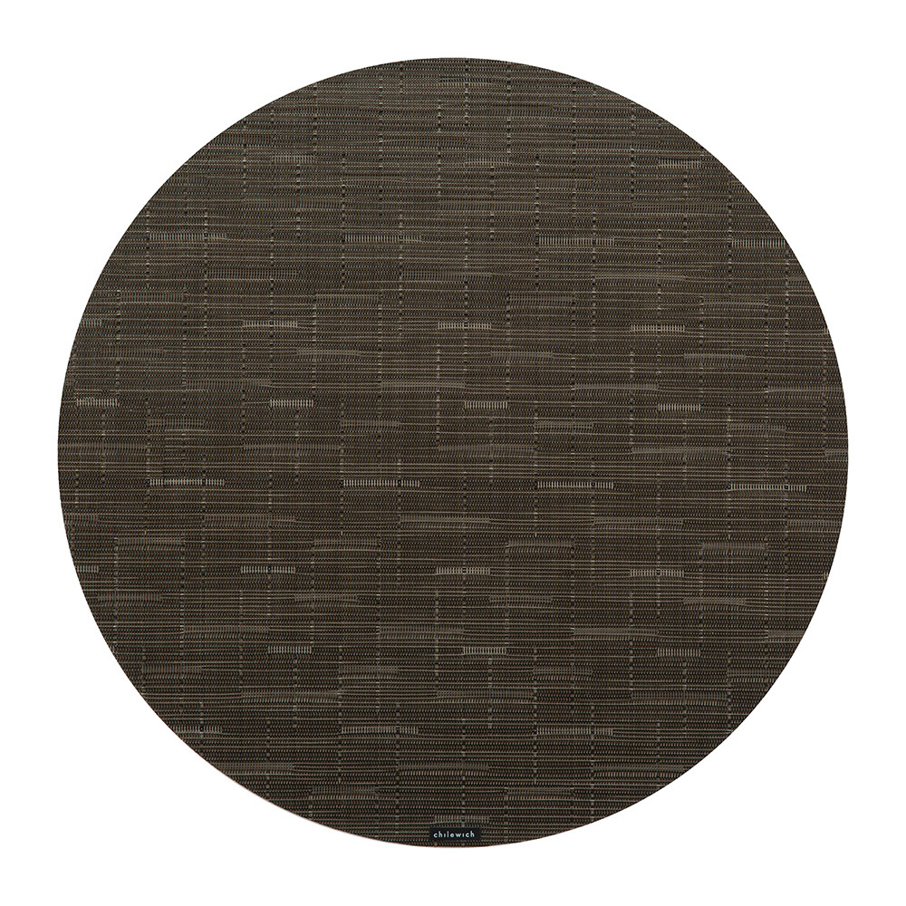 Chilewich - Bamboo Round Placemat - Chocolate