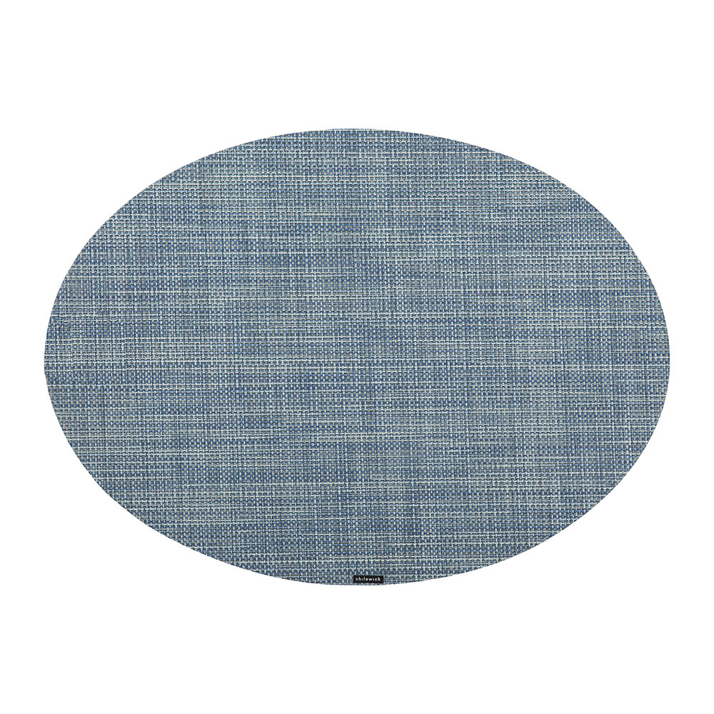 Buy Chilewich Mini Basketweave Oval Placemat Chambray