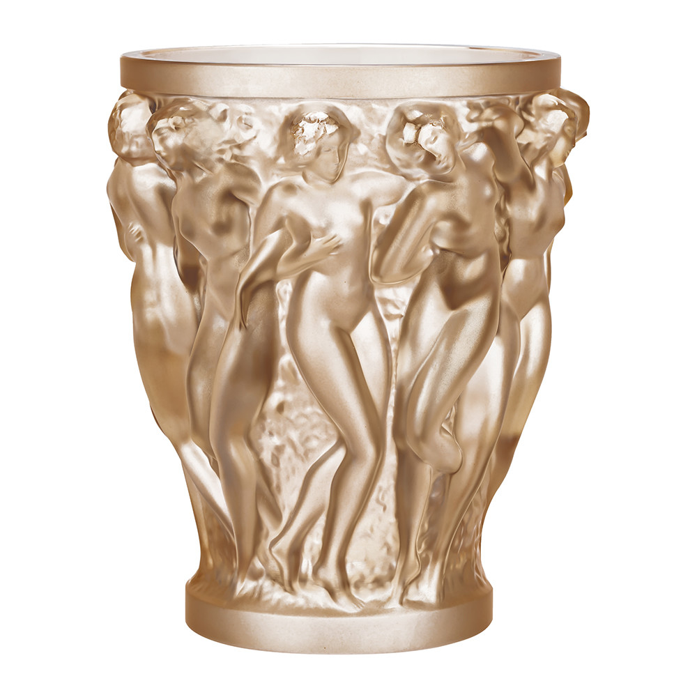buy lalique bacchantes crystal vase gold luster small. Black Bedroom Furniture Sets. Home Design Ideas