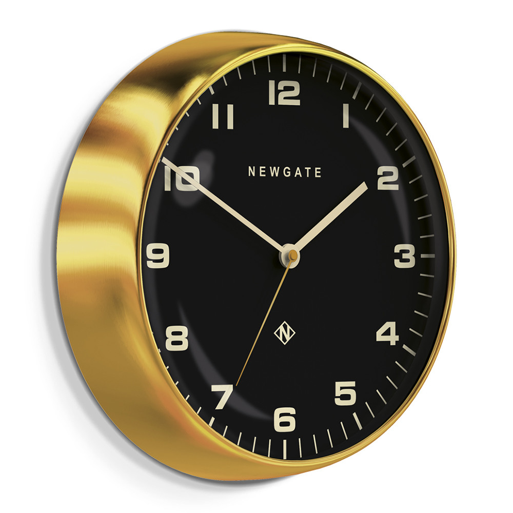 Newgate Clocks - Chrysler Wall Clock - Reverse Dial - Radial Brass