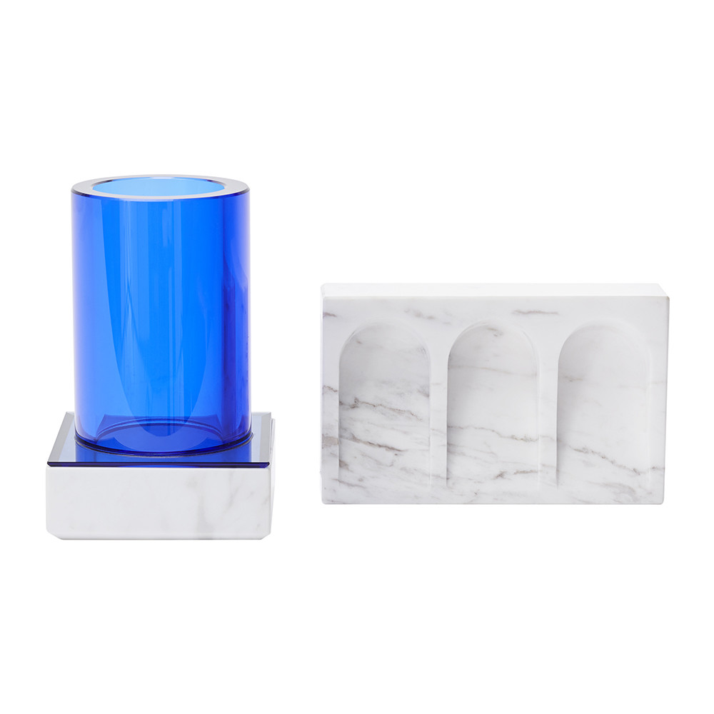 Buy tom dixon lid tube top container and dish set amara for Bathroom containers with lids