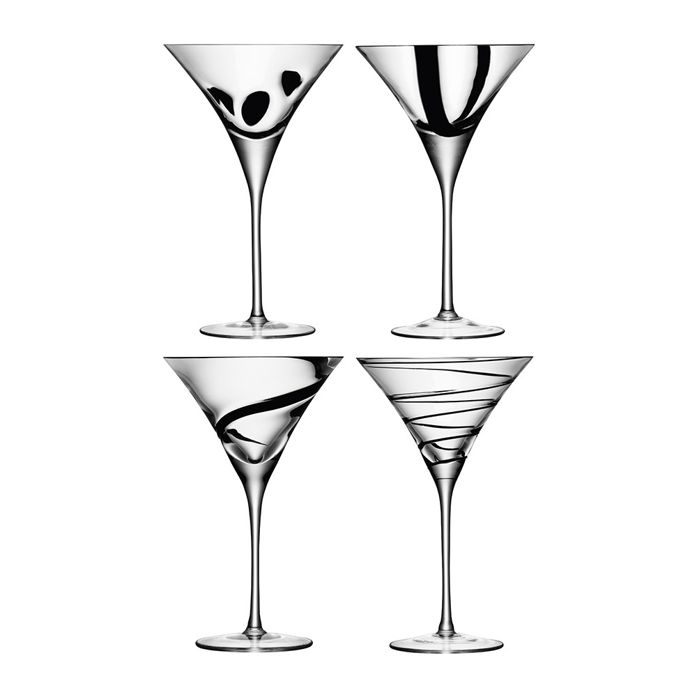 Buy LSA International Jazz Black Assorted Cocktail Glasses   Set Of 4 |  Amara Photo Gallery
