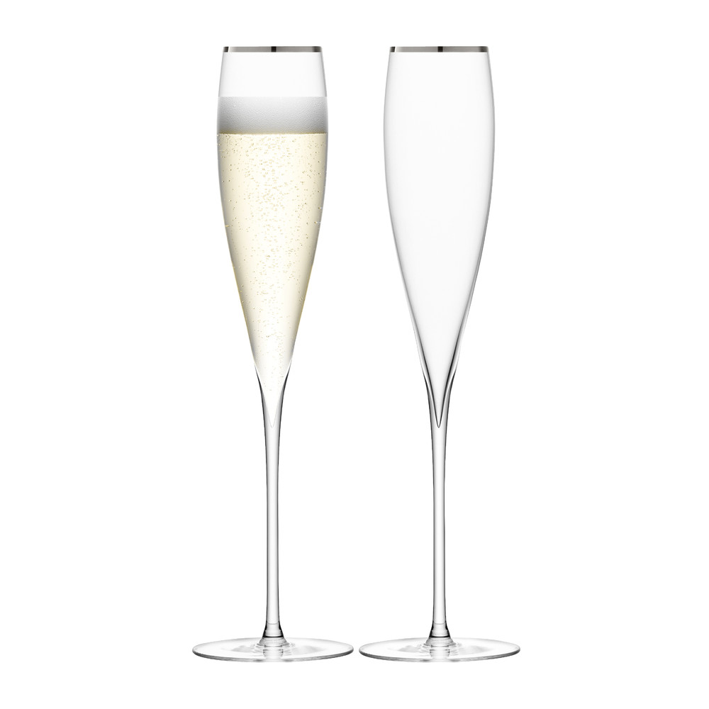 LSA International - Savoy Champagne Flutes - Set of 2 - Platinum