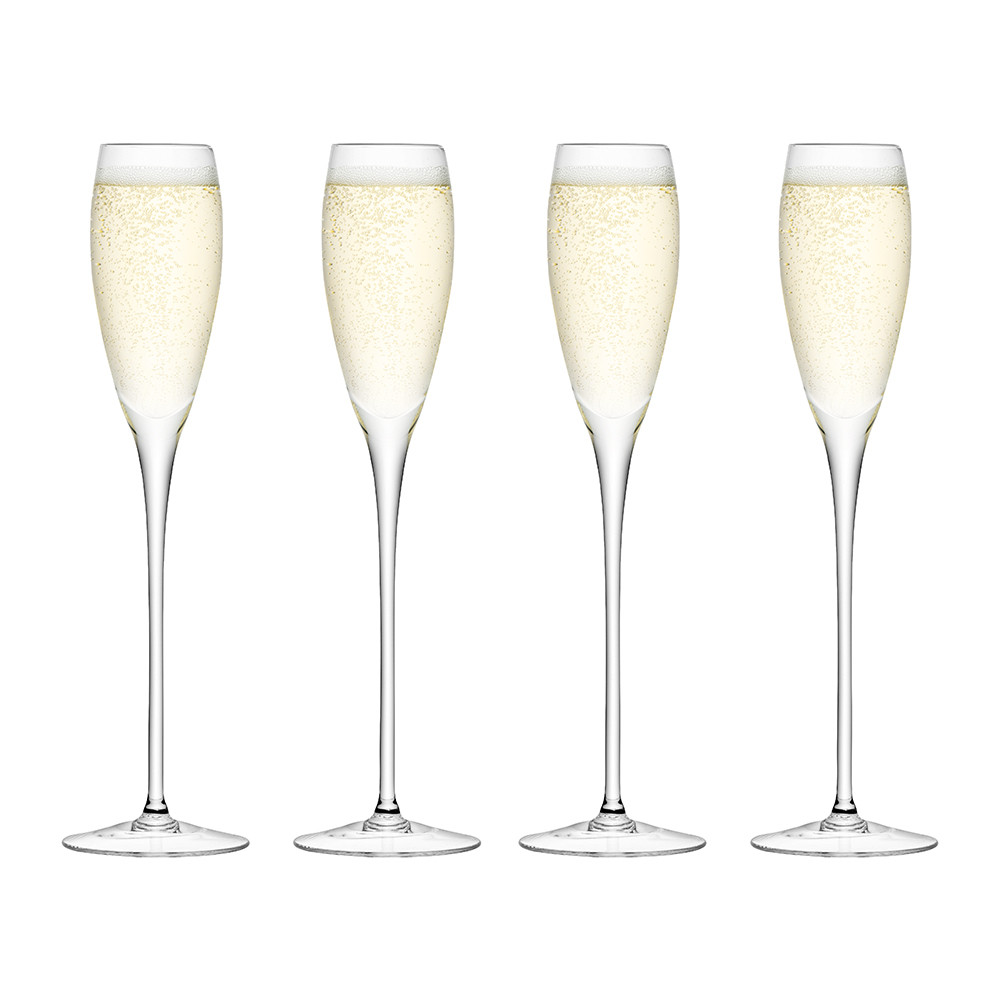 buy lsa international wine champagne flutes set of 4 amara. Black Bedroom Furniture Sets. Home Design Ideas