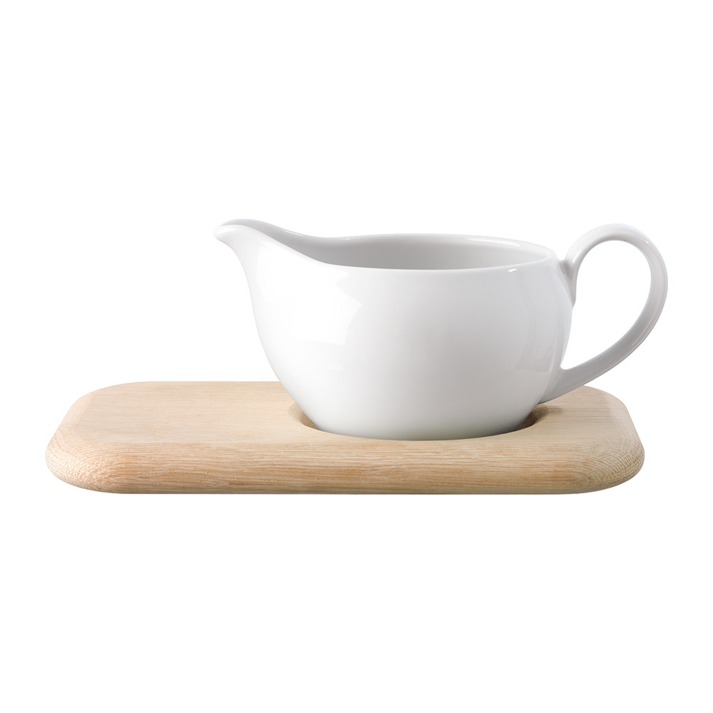 LSA International  Dine Sauce Boat  Oak Stand