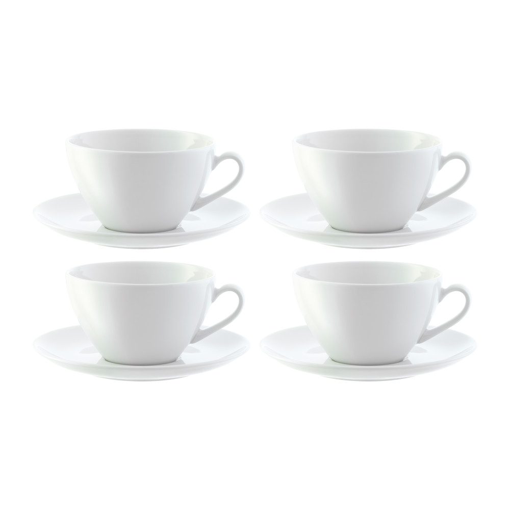 buy lsa international dine curved cappuccino cups  saucers  set  - buy lsa international dine curved cappuccino cups  saucers  set of  amara