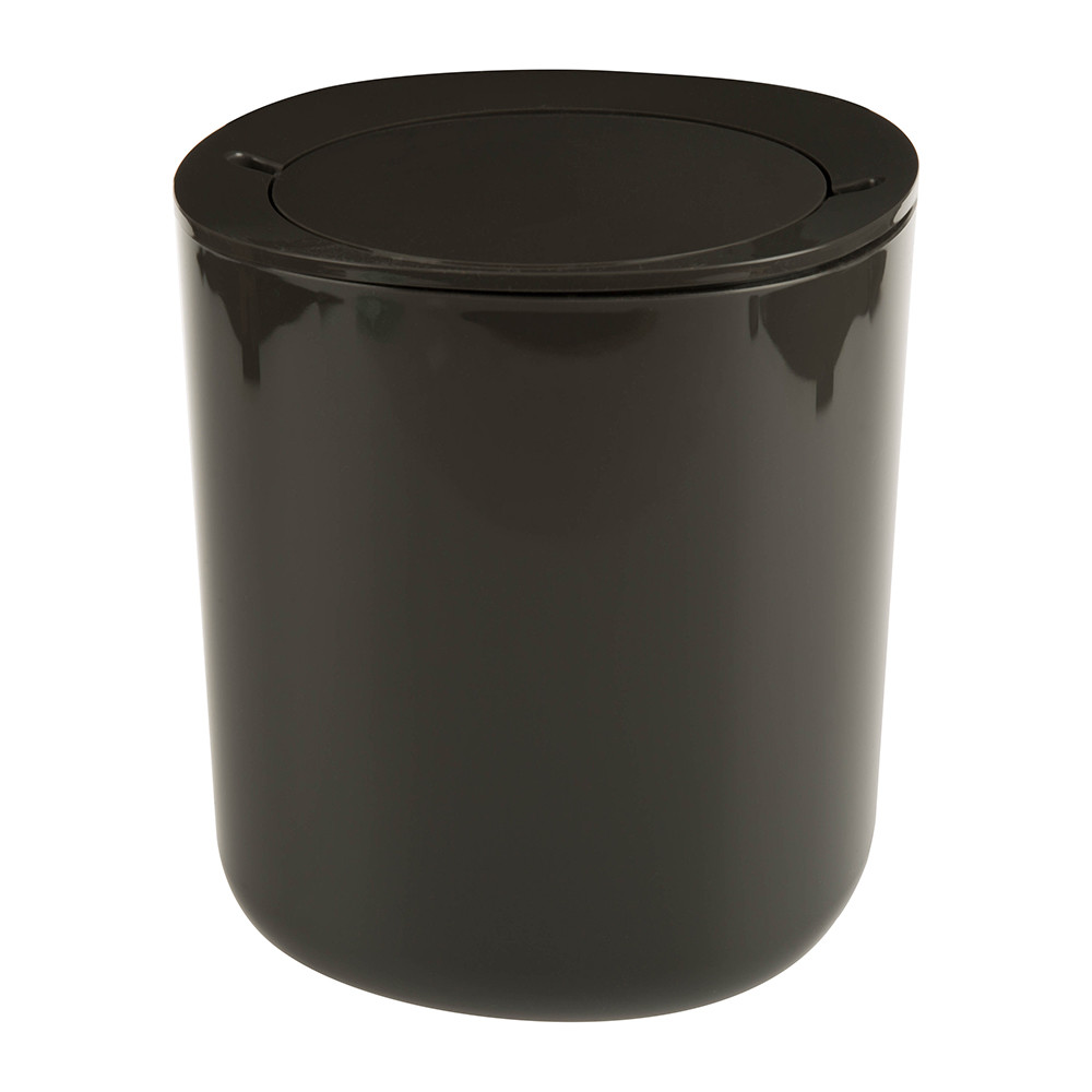 Alessi - Birillo Bathroom Waste Bin - Dark Grey