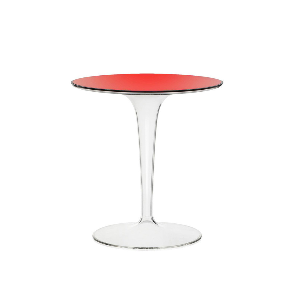 Buy kartell tip top side table red amara for Red side table