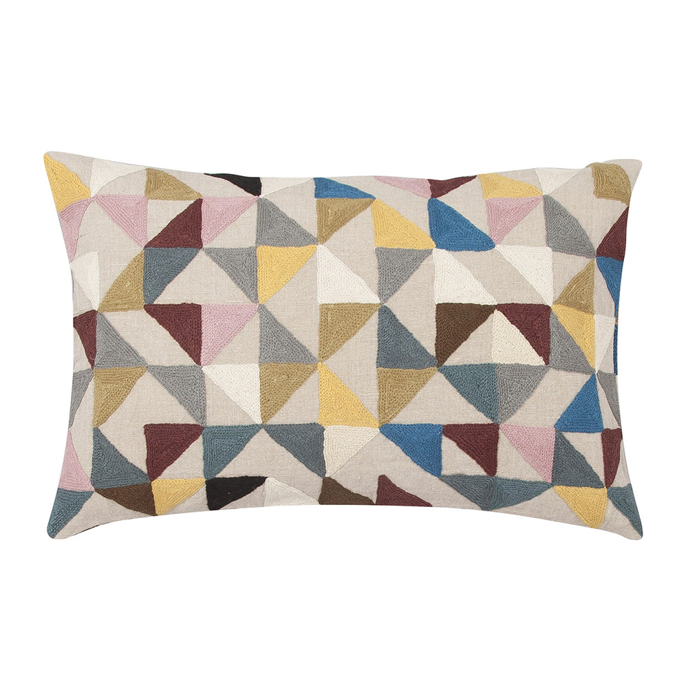 Niki Jones - Harlequin Linen Cushion - 40x60cm - Multi