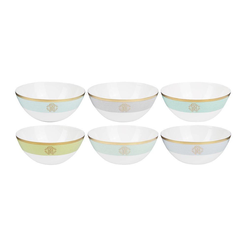 Roberto Cavalli - Lizzard Soup Bowls - Set of 6 - Sunrise
