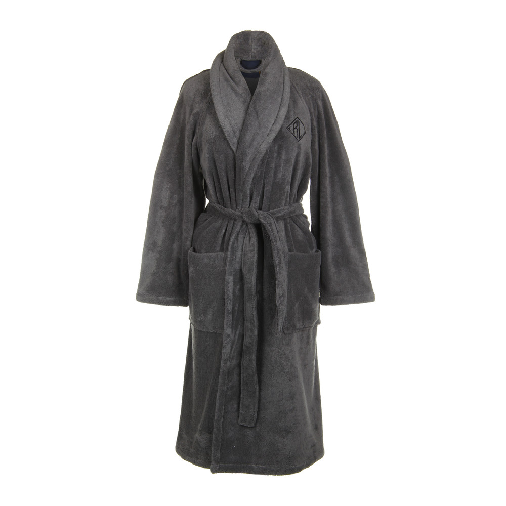 Bathrobe: Buy Ralph Lauren Home Langdon Bathrobe - Charcoal
