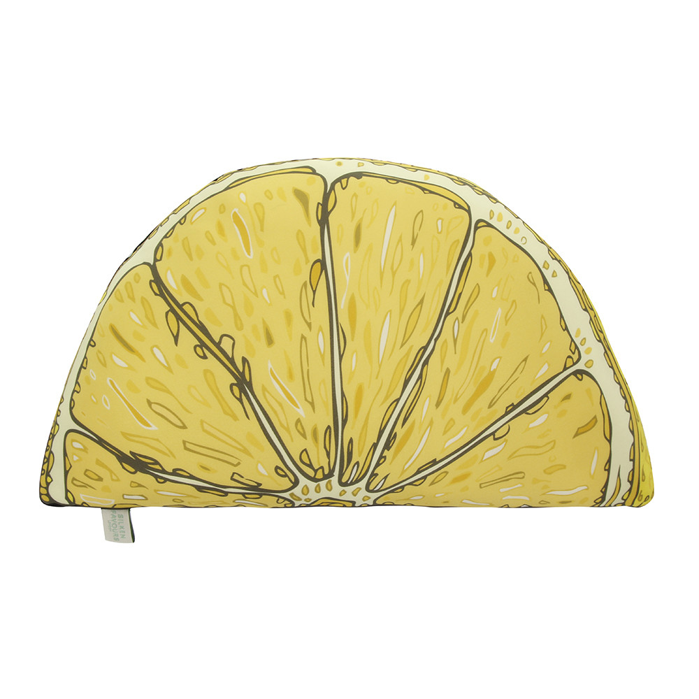 Silken Favours - Lemon Silk Shaped Cushion