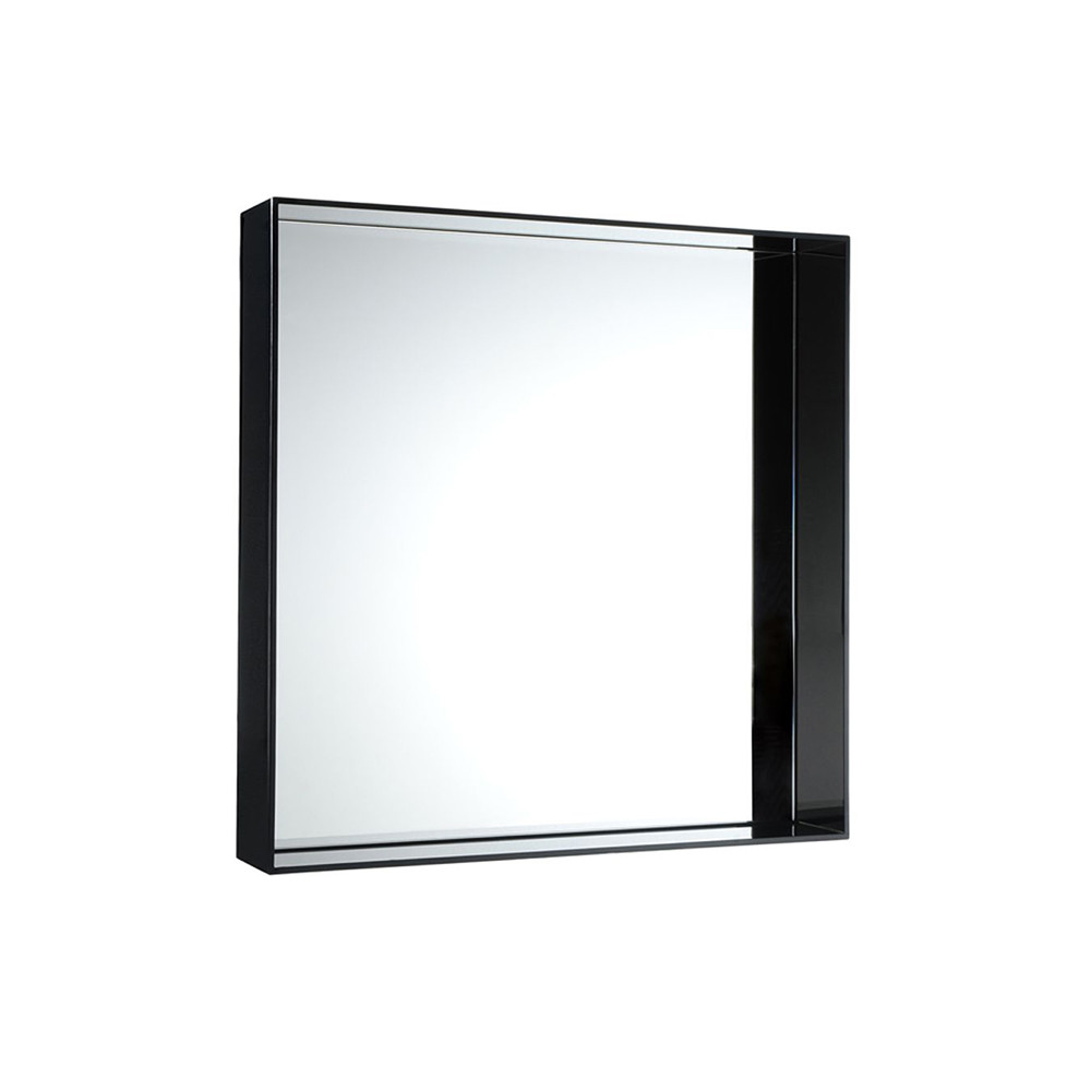 Buy kartell only me mirror glossy black 50x50cm amara for Miroir 50x50
