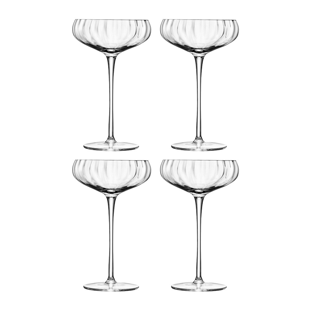 LSA International - Aurelia Champagne Saucers - Set of 4