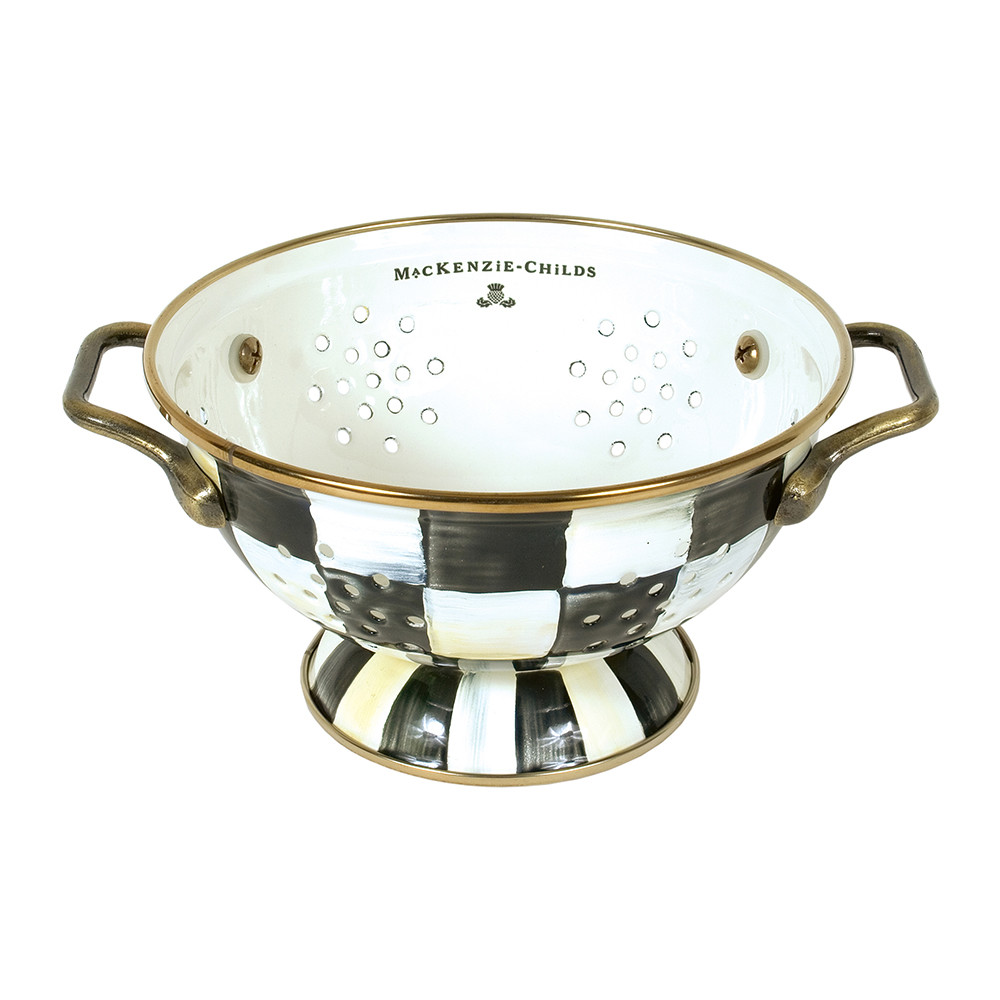 MacKenzie-Childs - Courtly Check Enamel Colander - Small