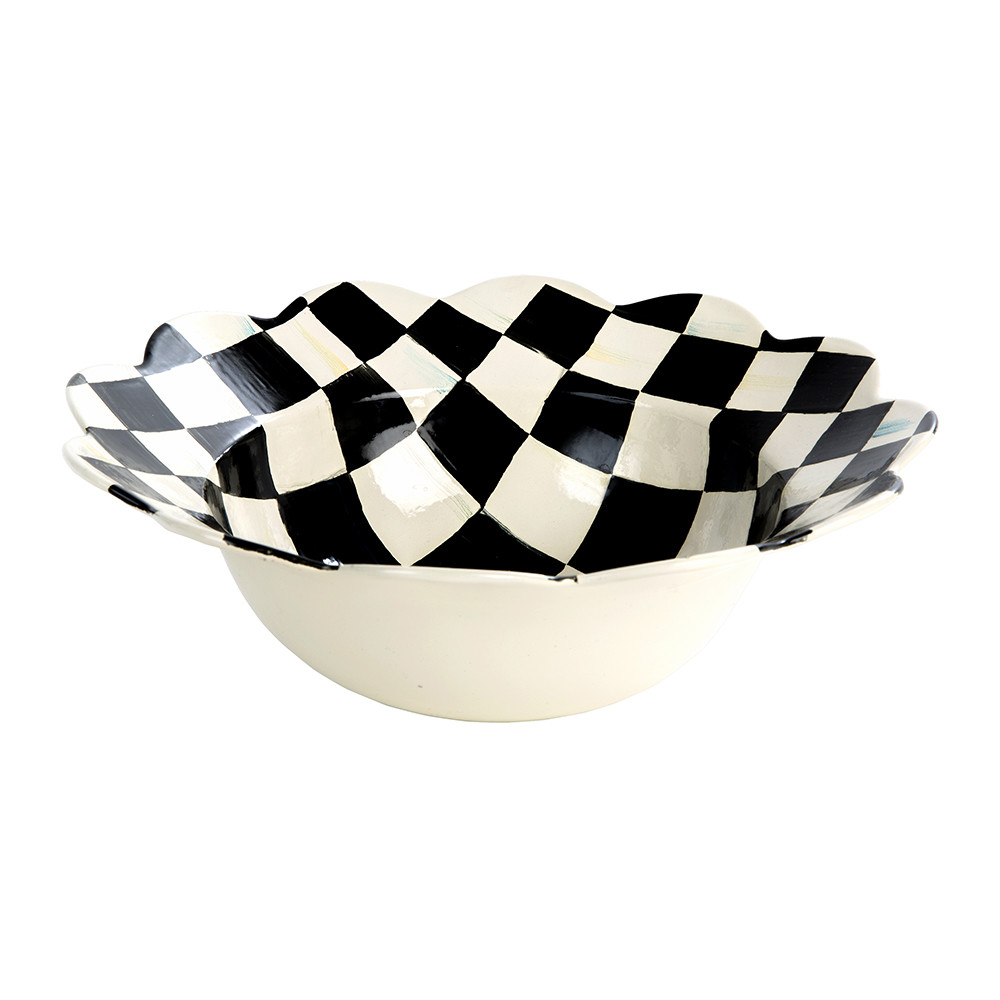 MacKenzie-Childs - Courtly Check Petal Serving Bowl