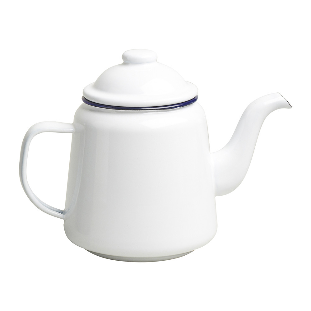 Falcon - Teapot - Original White with Blue rim
