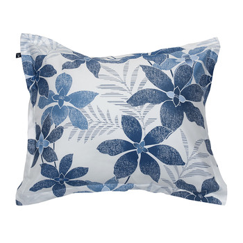 Maui Flower Pillowcase - Yale Blue