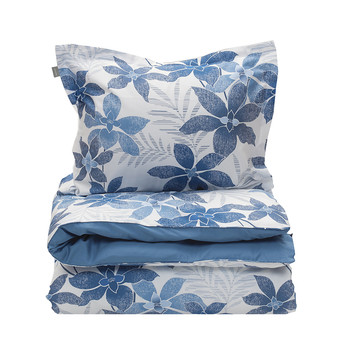 Maui Flower Duvet Cover - Yale Blue