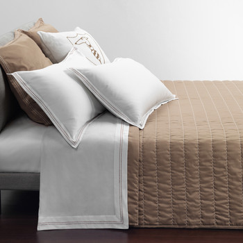 Stitch Quilted Bedspread - Turtle Dove