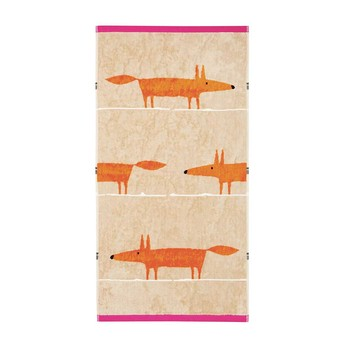 Mr Fox Towel - Cerise & Tangerine