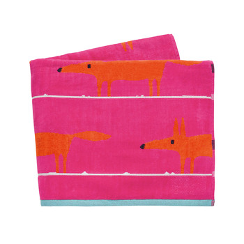 Mr Fox Beach Towel - Cerise