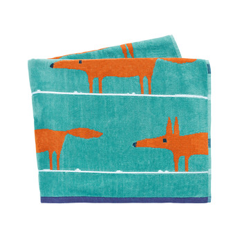 Mr Fox Beach Towel - Turquoise
