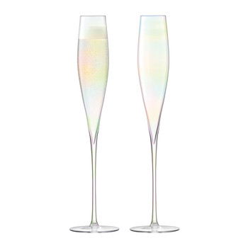 Celebrate Champagne Flute - Set of 2 - Mother of Pearl