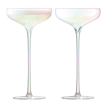 Celebrate Champagne Saucer - Mother of Pearl