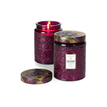 Japonica Limited Edition Glass Candle - Santiago Huckleberry