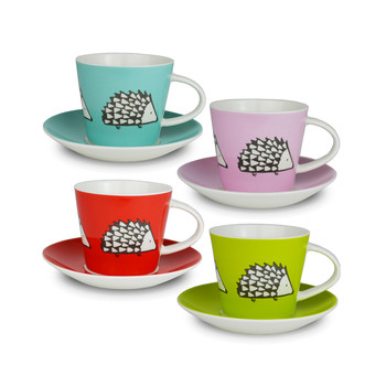 Spike Espresso Cups and Saucers - Set of 4
