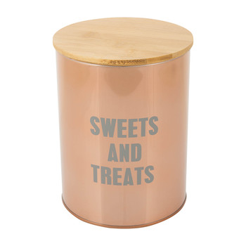 Copper 'Sweets & Treats' Canister