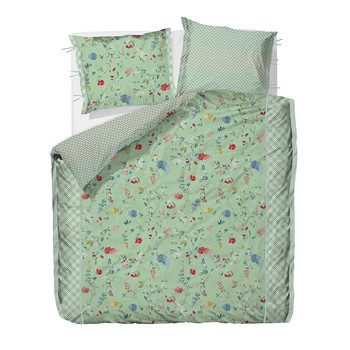 Hummingbirds Light Green Duvet Cover