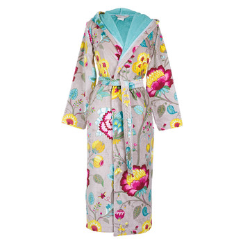 Floral Fantasy Khaki Bathrobe