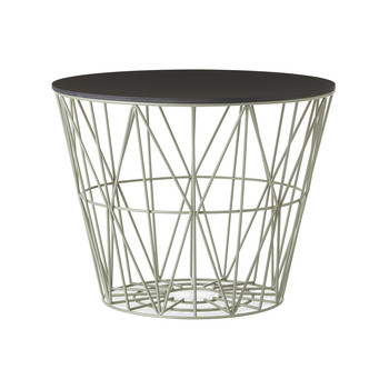 Medium Wire Basket - Dusty Green with Black Lid