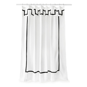 Santorini Shower Curtain - Black & White