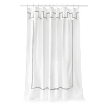 Santorini Shower Curtain - Grey & White